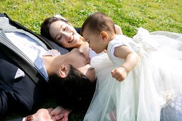 パパにキスしたい娘