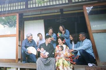 家族みんなで撮った前撮り和装写真