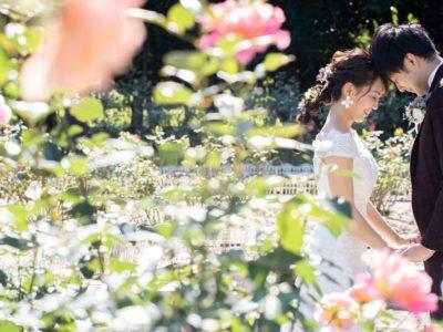 花に包まれながら前撮りフォトウェディングキャンペーン