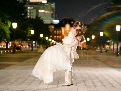 東京駅で撮影したウェディングフォト